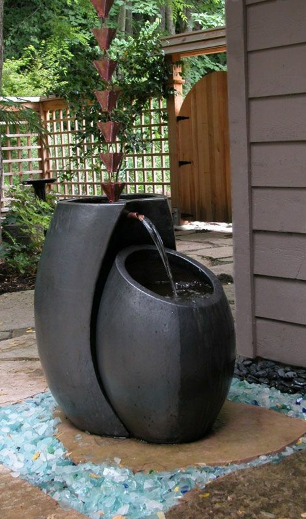 gartengestaltung examples bushes pool