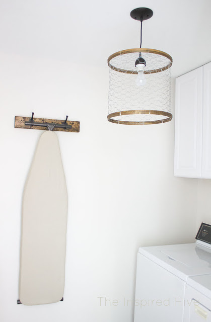 Kitchen DIY Chicken Wire Light Fixture