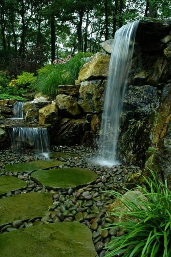 my beautiful garden waterfall