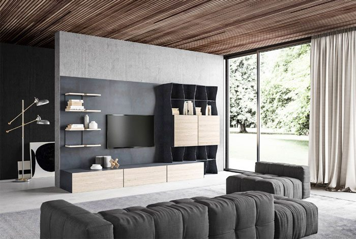 Bookcase With 3D Effect by Ronda Design