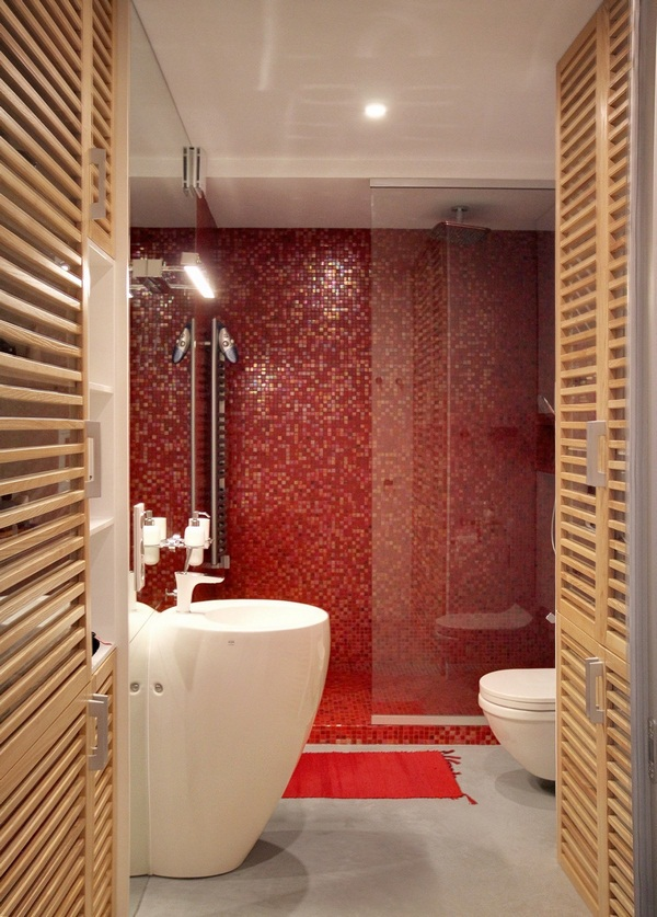 Small apartments decorated in red and blue (6)