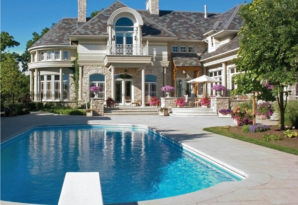 Modern architecture house beach terrace garden with pool 1