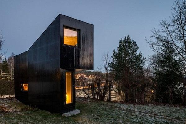 panoramic windows work rooms of asymmetrically house backyard modern architecture writer