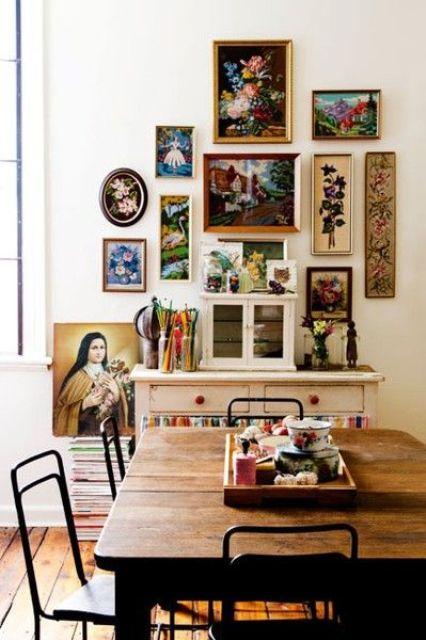 vintage art works and frames