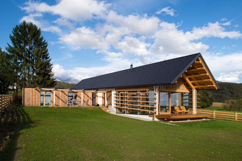 Modern Wooden House by Biro Gasperic, Velesovo, Slovenia