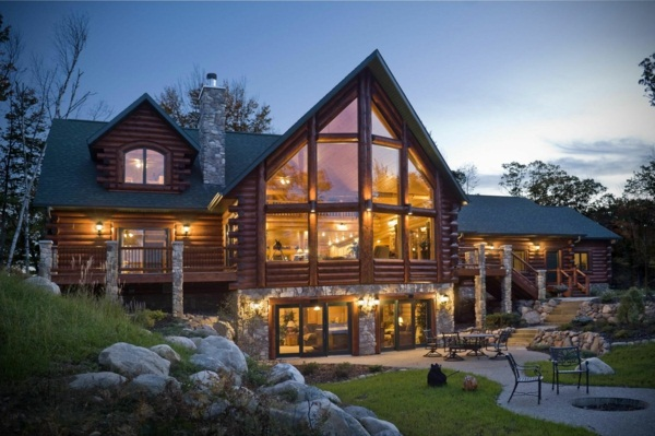 Exotic lighting luxury prefab homes with fantastic garden landscape