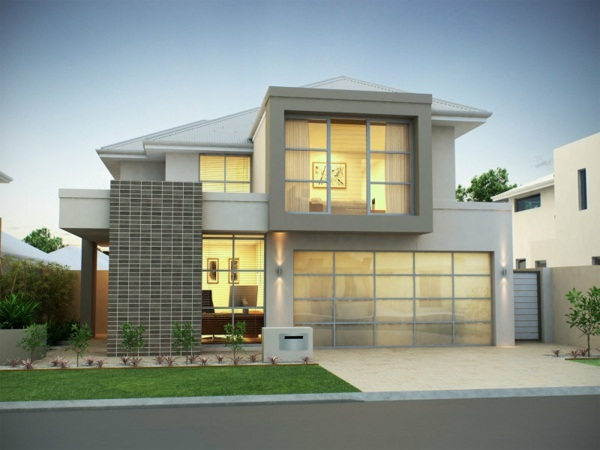 luxury house design ideas white façade