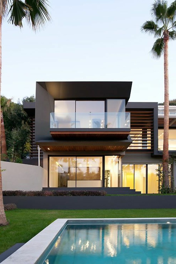 luxury house with a fantastic pool super modern architecture