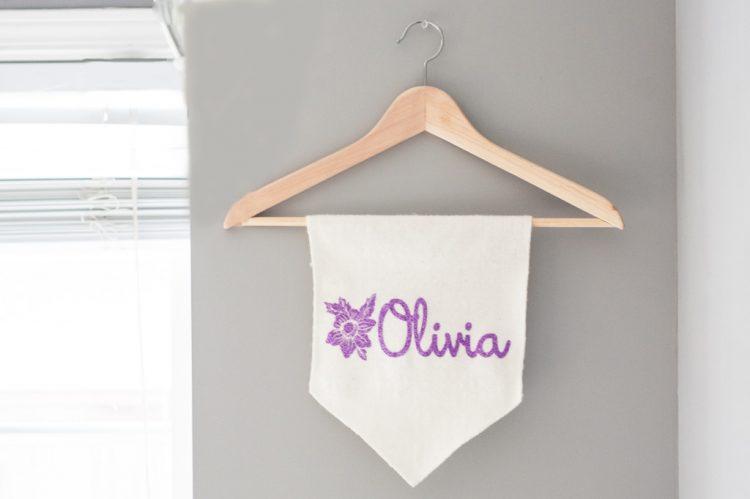 DIY baby name banner