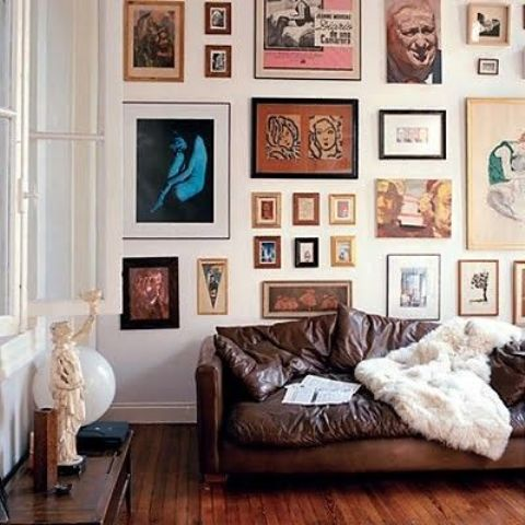vintage gallery with different frames