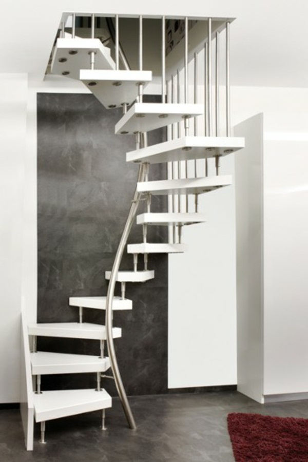 modern interior stairs to save space