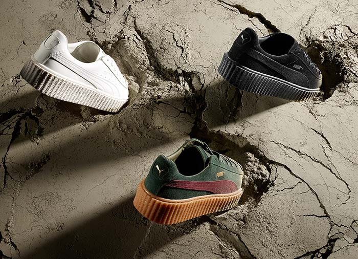 Rihanna Launches Three New Colors for Puma Fenty Creepers
