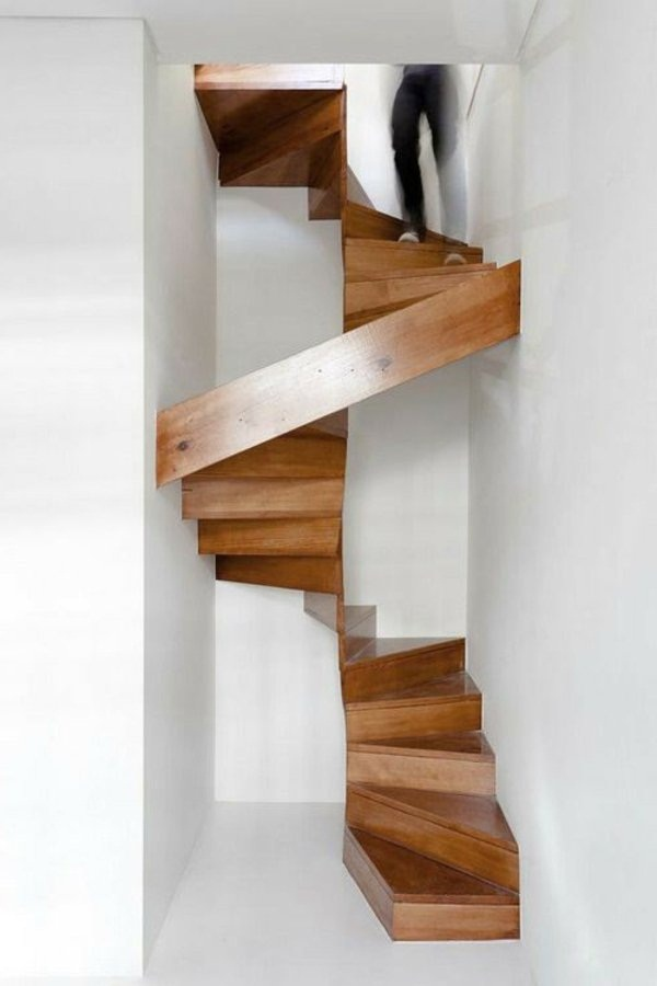 Space-saving stairs spiral staircase modern design