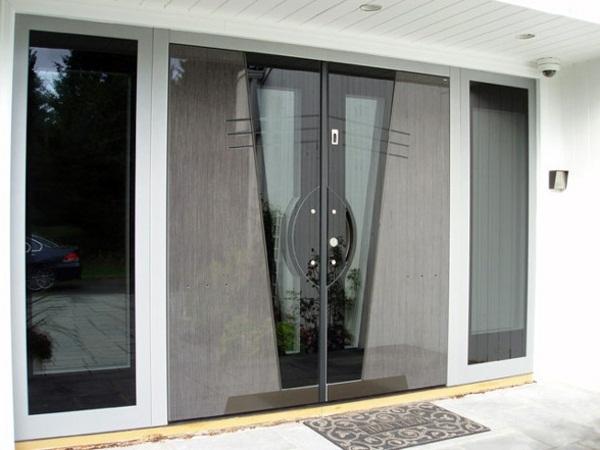 modern house doors gray color look very interesting