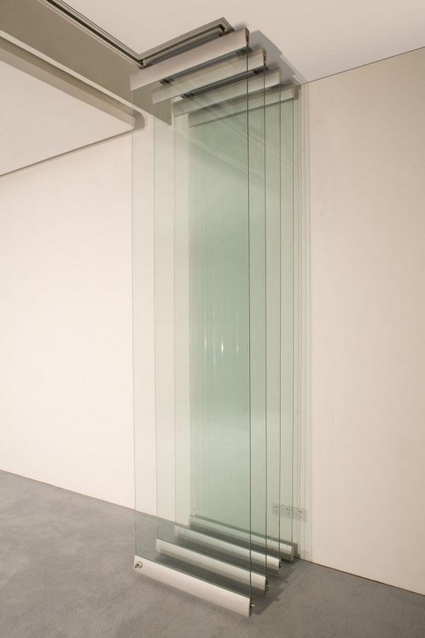 Folding doors inside metal bar glass шеисс грау функтион модерн