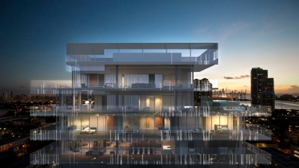 glass house luxury villas with pool
