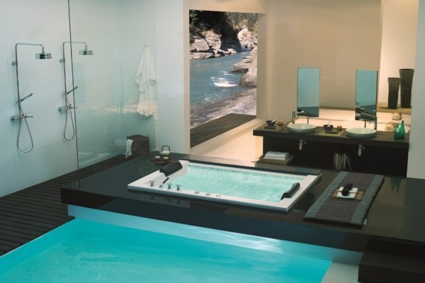 Luxury bathroom pool bath house