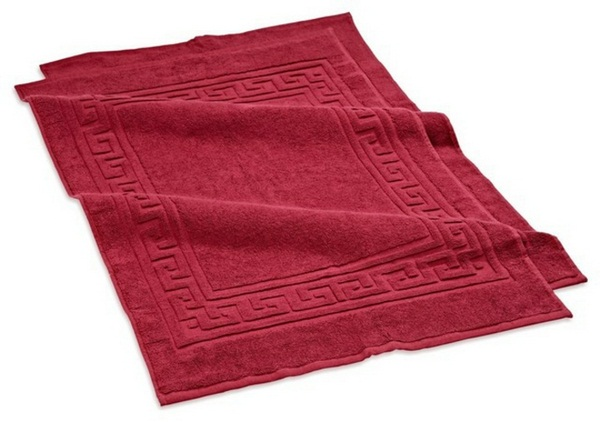 cotton bathmat traditional red model