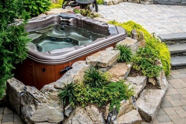 Whirlpool Garden House holzverkeidung modern architecture outdoor luxury