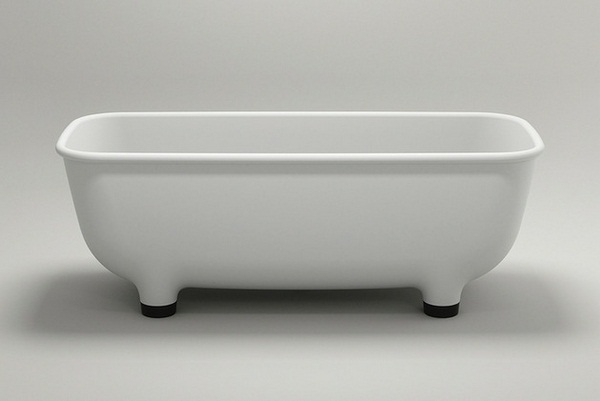 purist white tub modern design black legs
