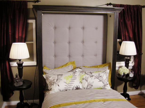 DIY blysh tufted headboard with a frame