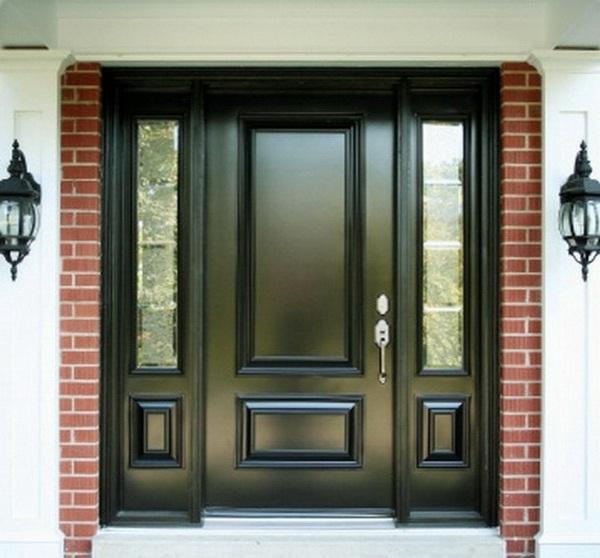 modern house doors black color