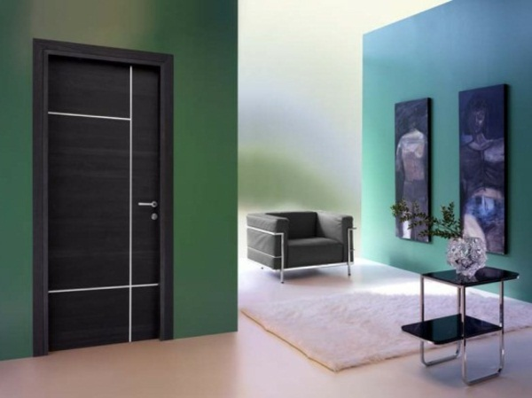 modern green walls for front doors