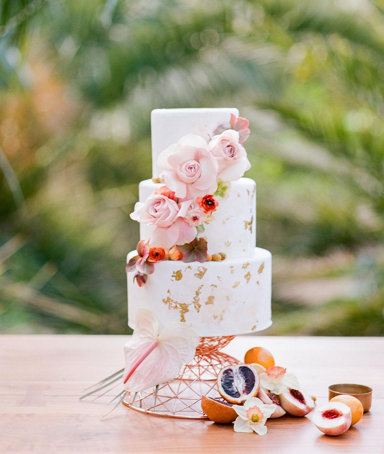 gold fleck cake
