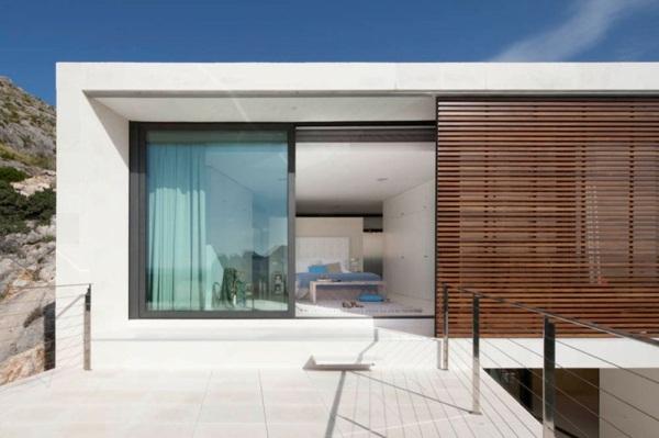 modern house doors white wall design from room