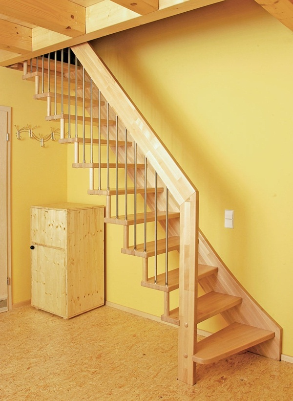 space-saving staircase wooden structure