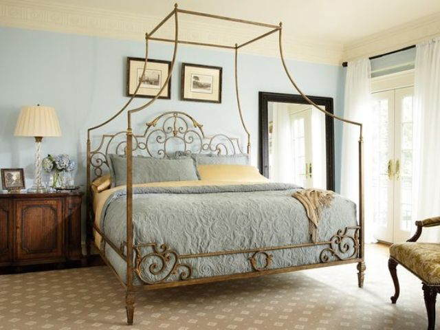 vintage brass metal headboard
