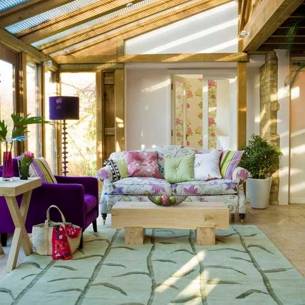 Setting conservatory ideas dark bright purple tones