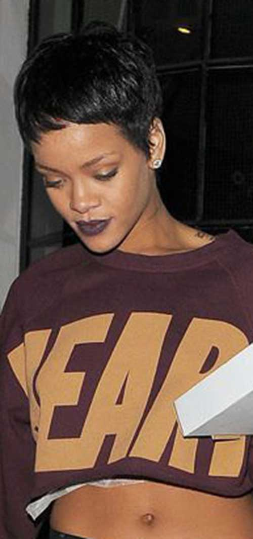 Rihanna Pixie Haircut Pictures