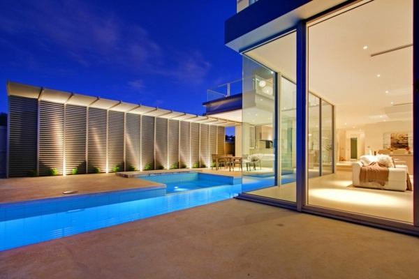 luxury cottage with pool minimalist architecture