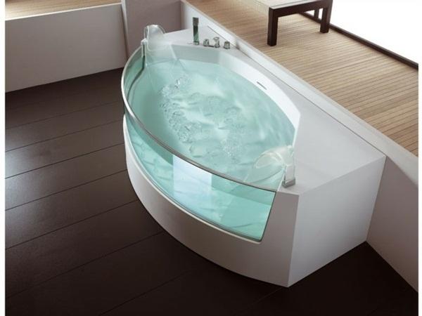 freestanding spa bath house garden modern design
