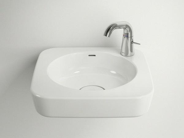 White basin stainless steel glossy modern furniture design ideas