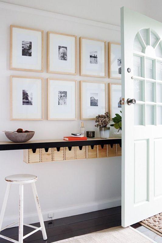 same size frames of natural wood