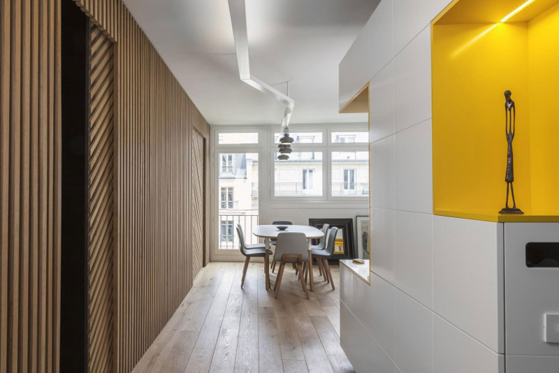 Cosy Yellow Apartment Decorating by Agence Glenn Medioni, Paris, France DesignRulz.com