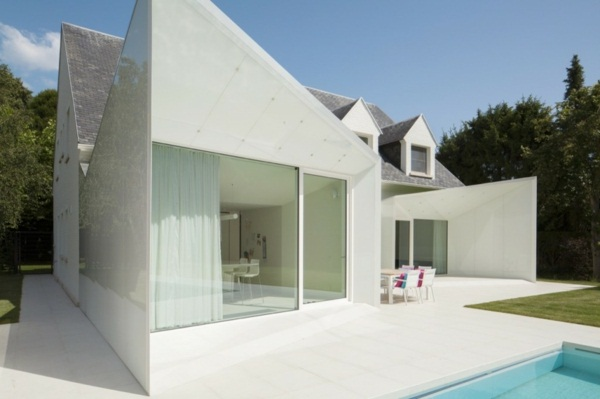 modern house doors white interesting architecture