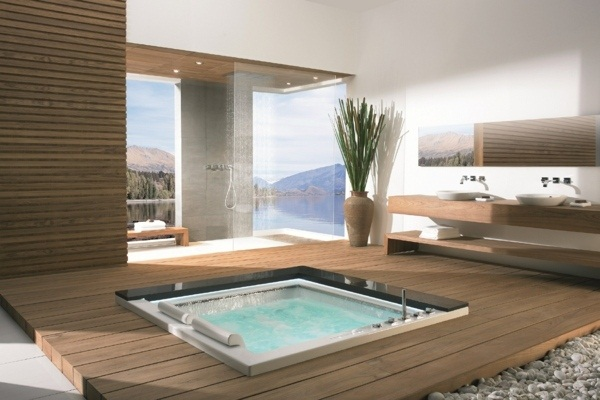 25 hot tub styles for inside and outdoors Make certain spa ...