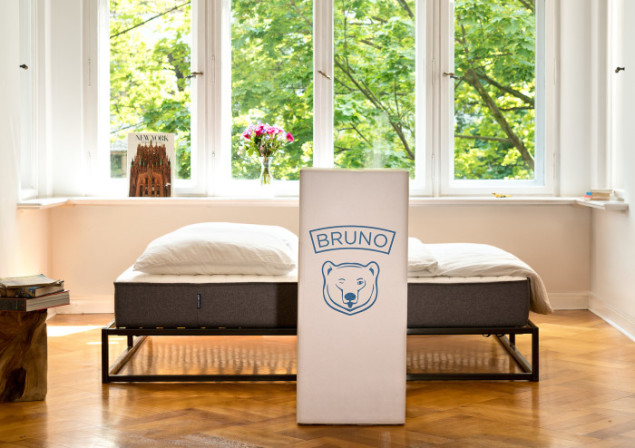 Bruno Mattress delivered in a box