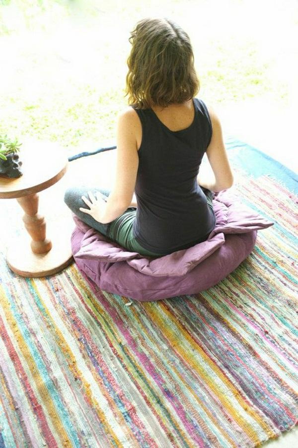 Lotus Yoga meditation cushion pink color