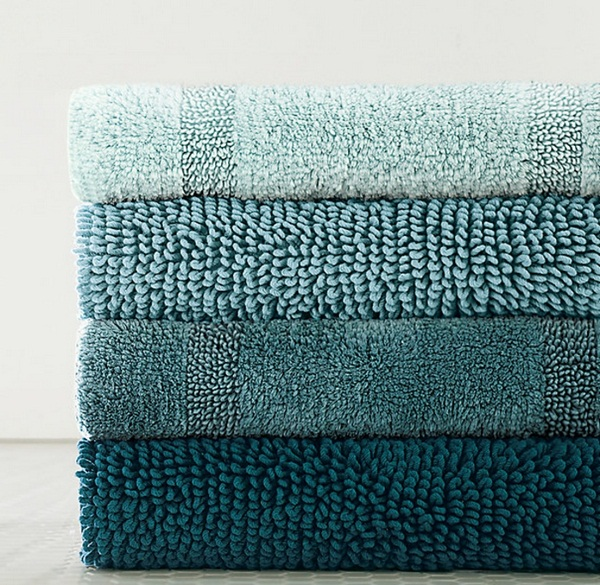 cotton bathmat super beautiful blue cloths