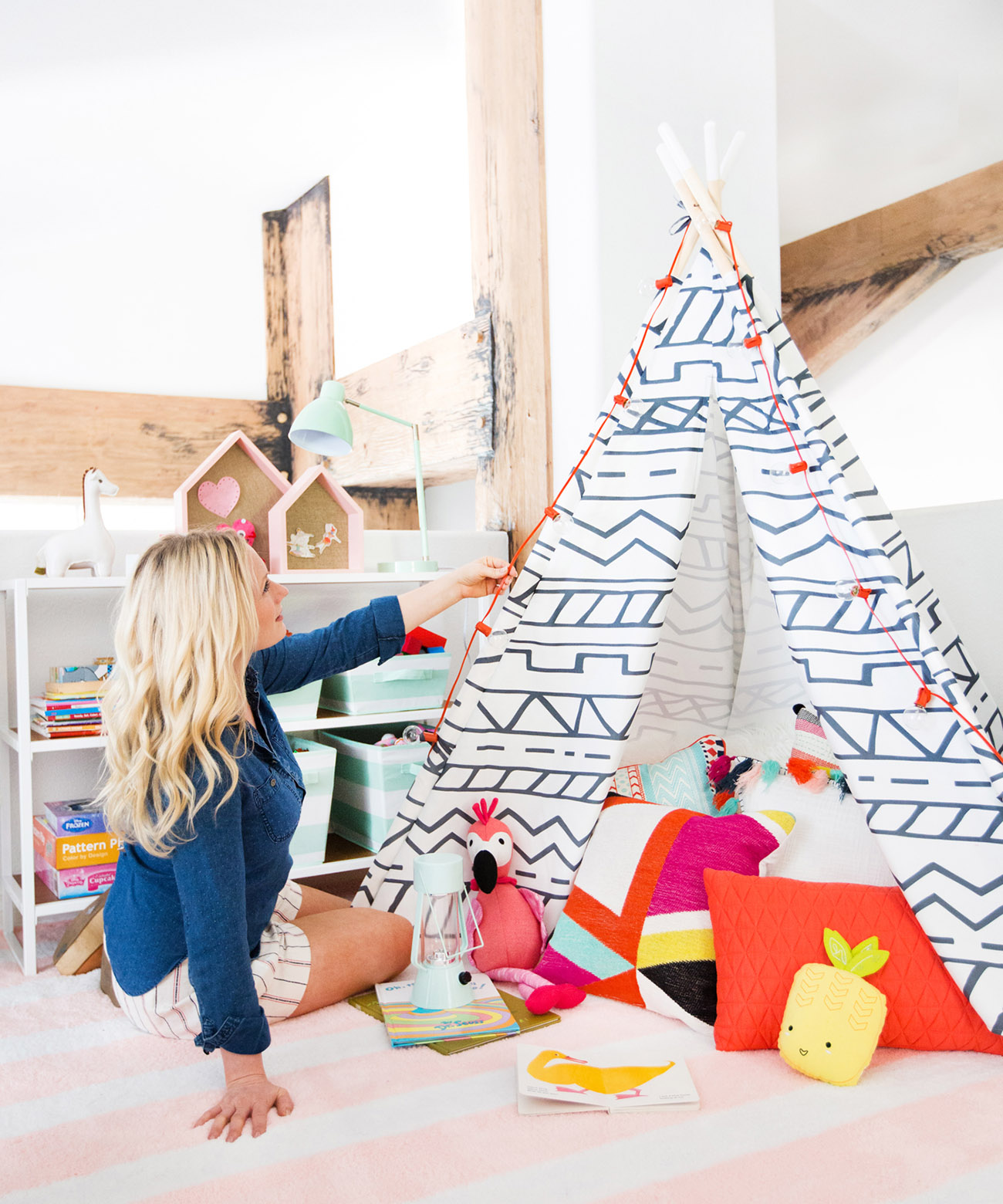 teepee in playroom