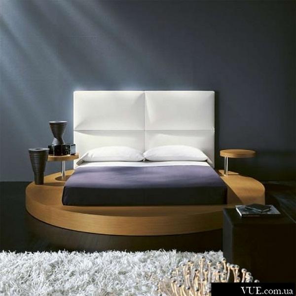 round wooden bed design