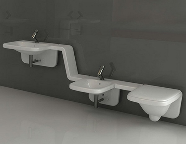 Equipment of the bathroom sink design