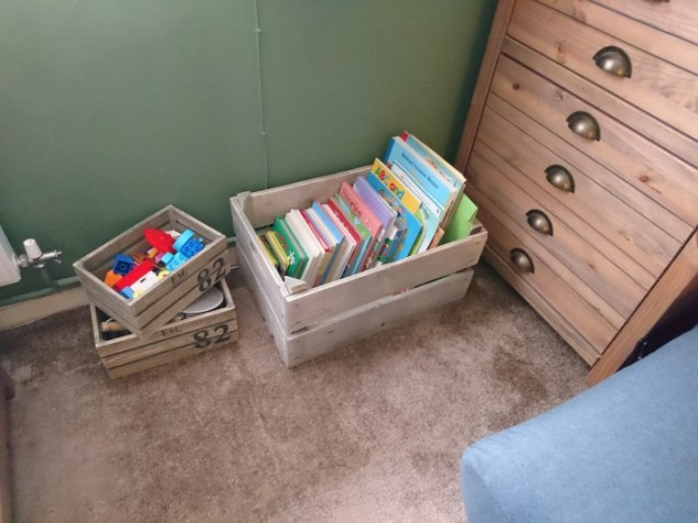 Stylish Toy Storage in Vintage Style crate from Also Home