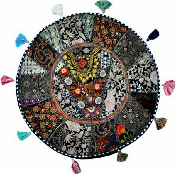 Cushion bohemian Yoga meditation patchwork
