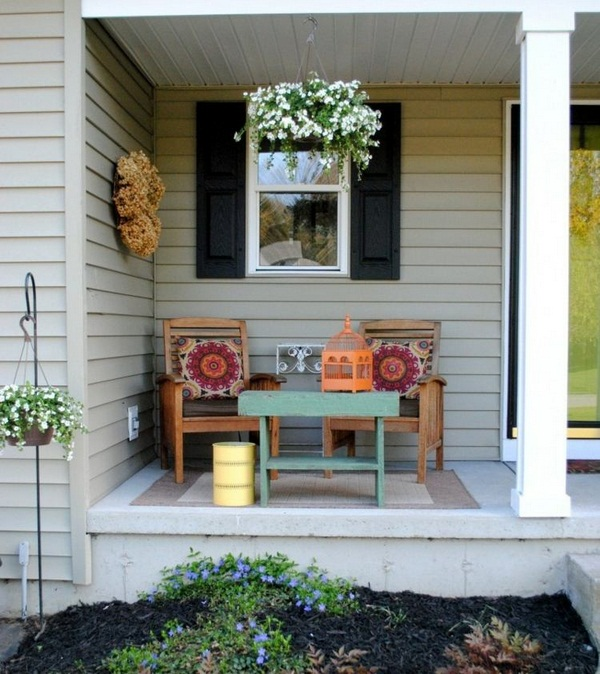 roofed wooden country house set style porch