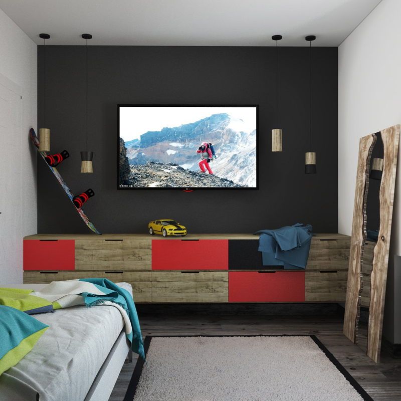 Kids Bedroom Tv 35 colorful and contemporary kid's bedroom style tips - decor10 blog